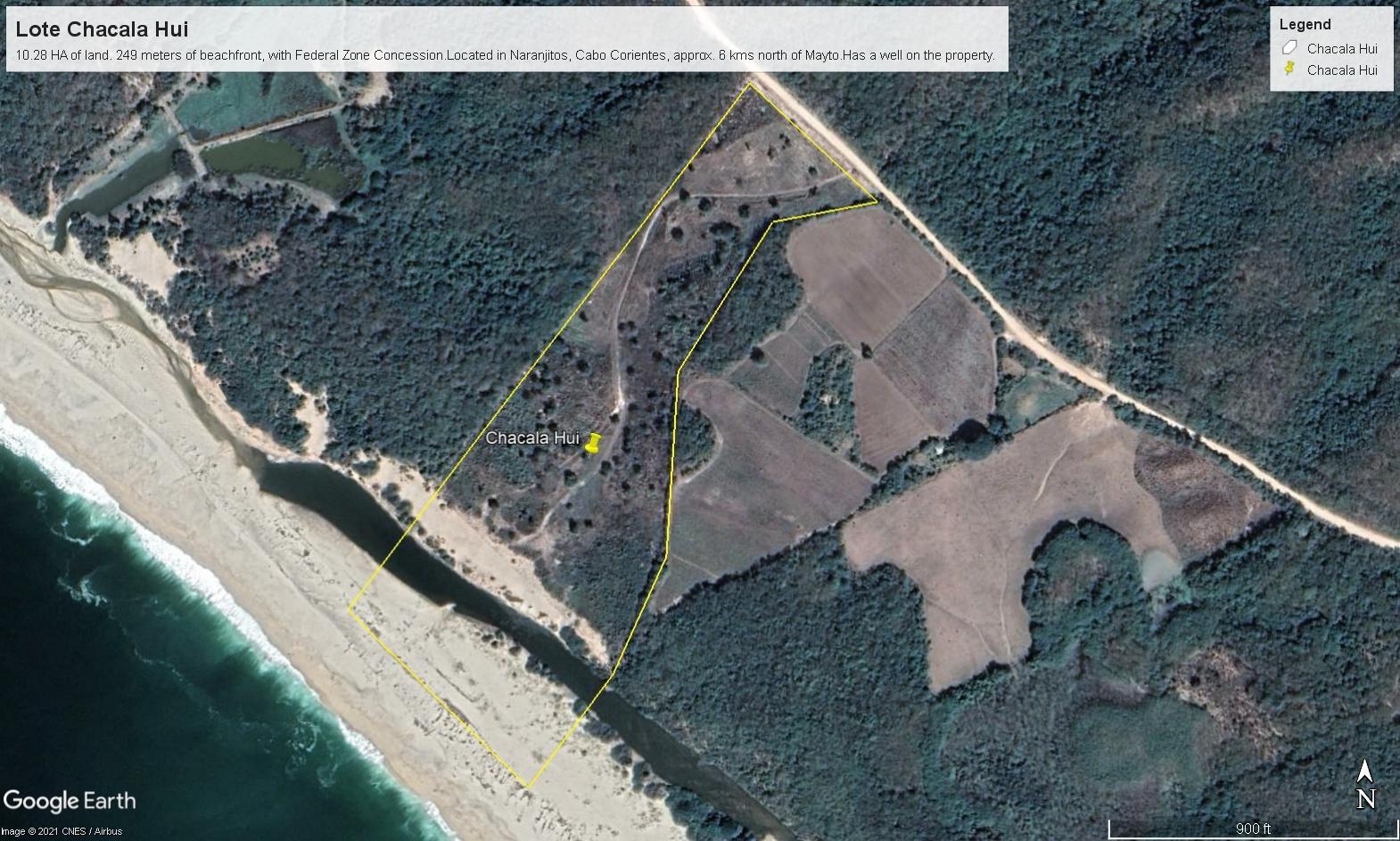 Google Earth pic Lote Chacala Hui
