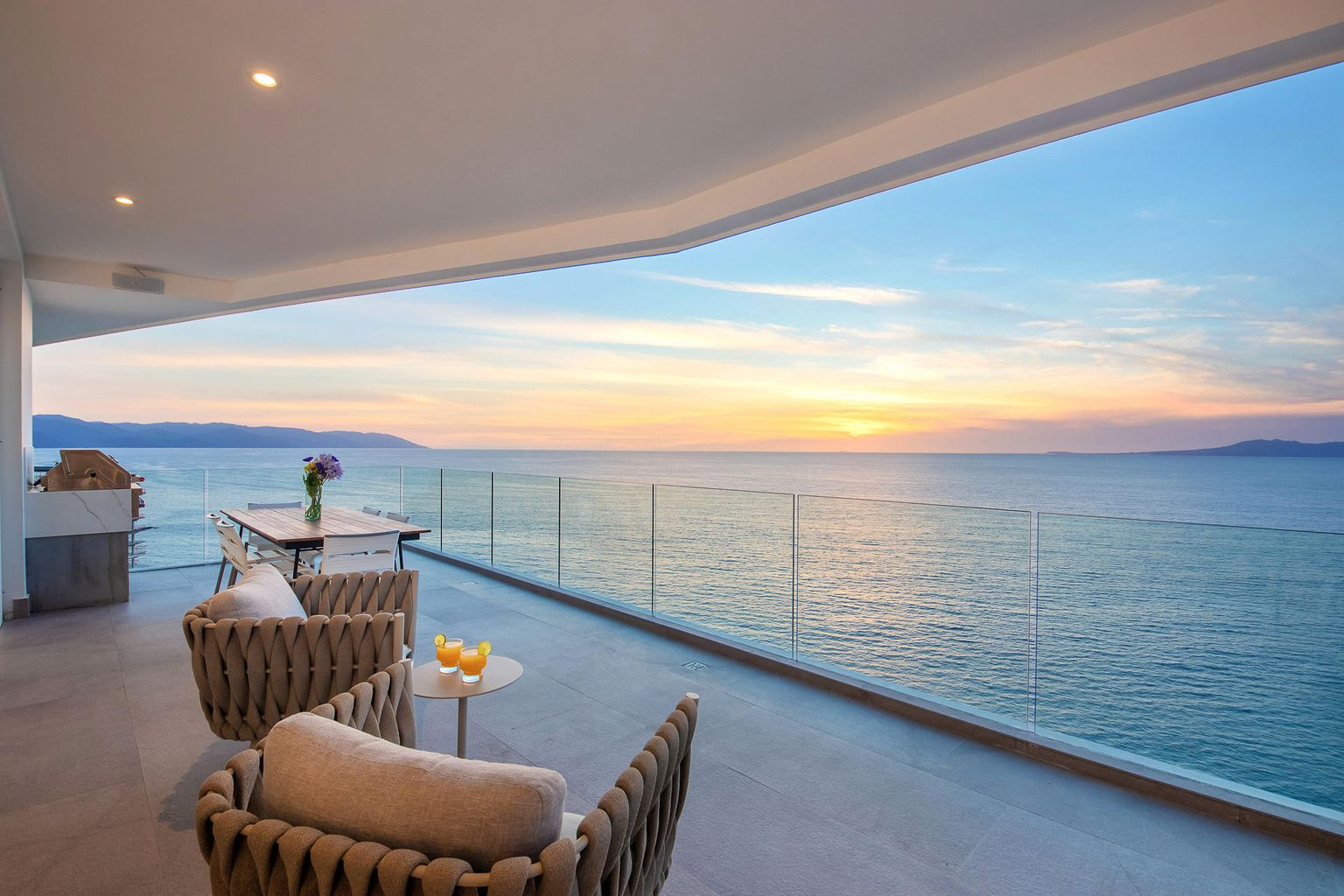 perfect sunsets from your terrace