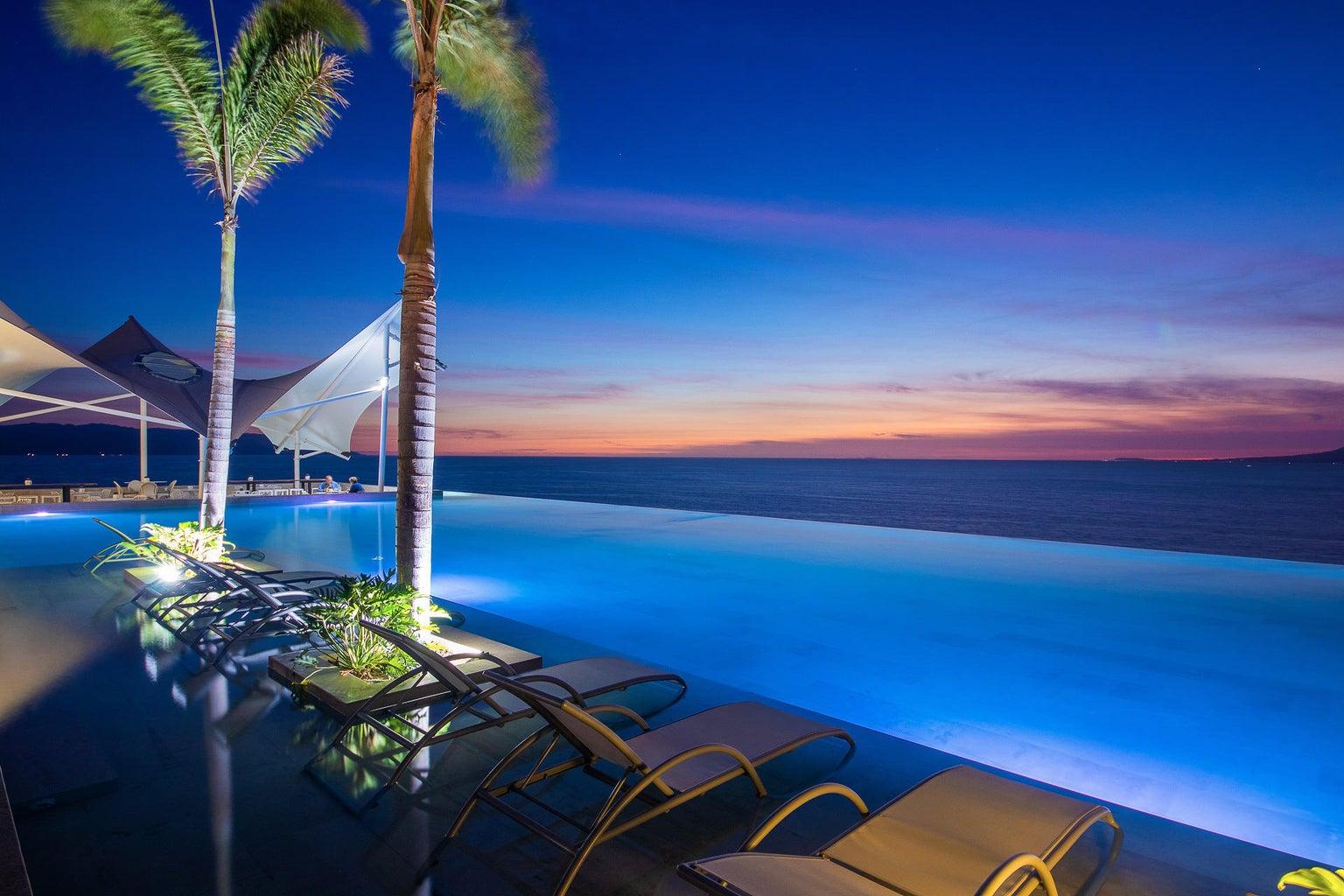 infinity pool on terrace