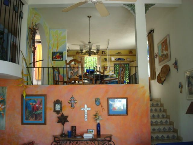 Living room, dinning room, very mexican kitchen in this art fully painted and decorate Condo