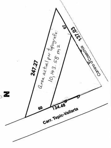 Lote 1, 9987 m2 por escritura (10,143.58 m2 por topografo).