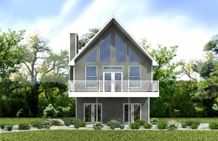 Here is a rendering of this 2 bed, 2 bath home: The Mountain Chalet