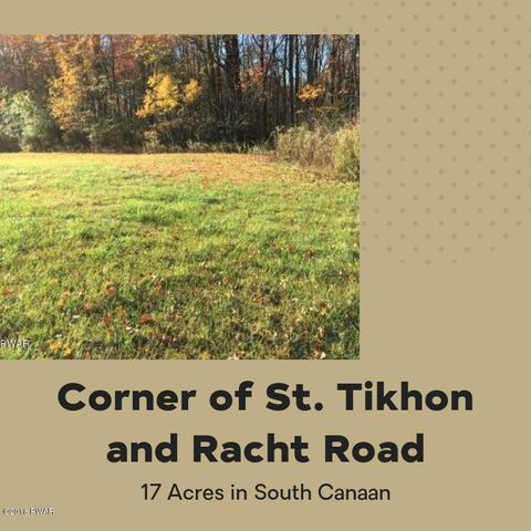 Corner of St. Tikhon & Racht R, South Canaan, PA 18459