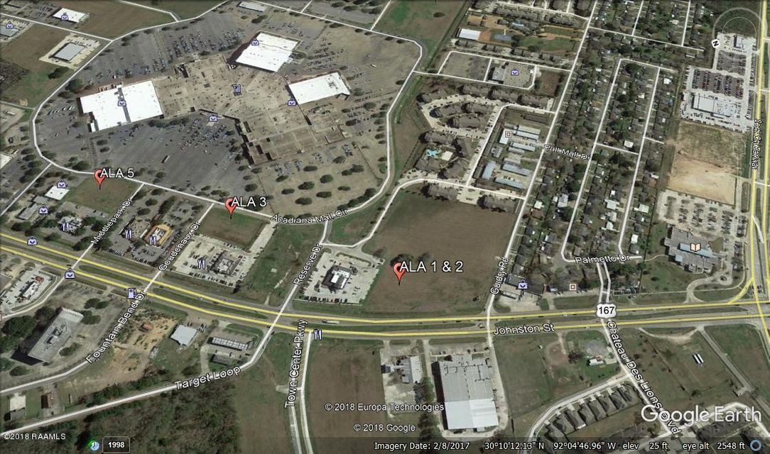Lot located between Twin Peaks and Car Max. Acadiana Mall Out-parcel with Johnston Street Visibility. Parcel is composed of Lot 1 and Lot 2.  May be able to subdivide.  Final price to be based on approved survey.  All listed dimensions are estimated. Price based on $17/sf. Demographics: 3 miles - population: 61,155 - Avg HH income: $85,968. 5 miles - population: 121,996, Avg HH income: $79,837. 10 miles - population: 225,377 - Avg HH income: $72,749