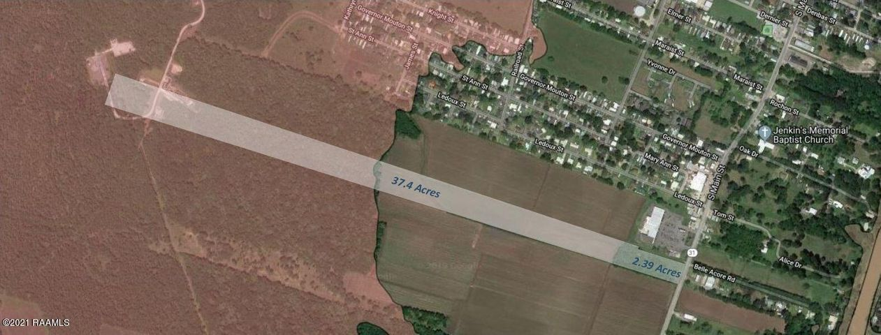 Approximate location of the 37.4 acres.