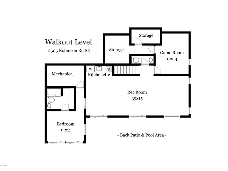 2505 Robinson Rd Walkout Level