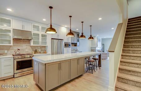 Stunning high end kitchen with stainless steel appliances included