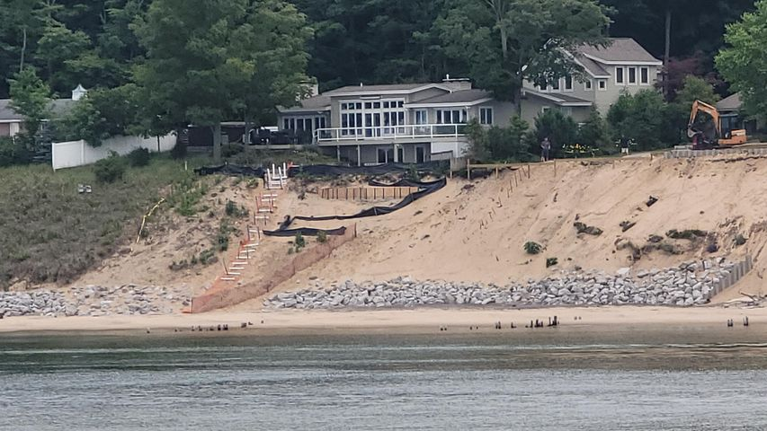 The beach has been fixed and the steps are next, save now!