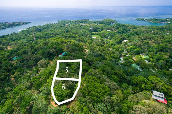 Aerial View of Lot 6 - Please not it's approximate size and it's the lower indicated lot.