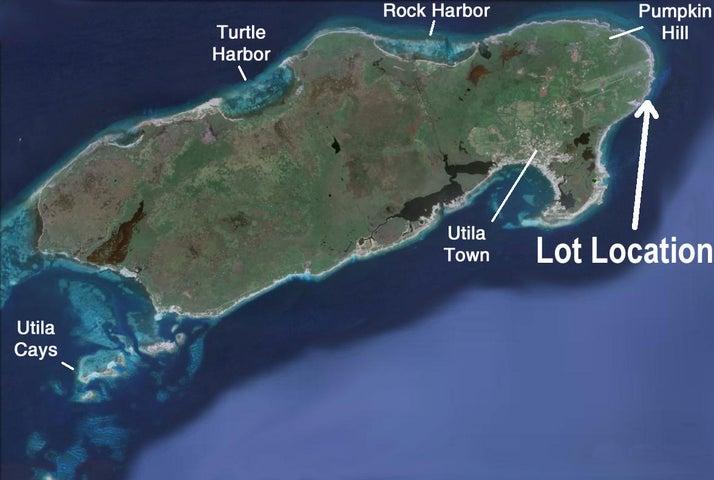 Great area next to ocean, Cliff Club Corner Lot D6, Utila,