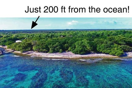 Just 200 ft to beach and docks, Great Value Lot C1, Utila,