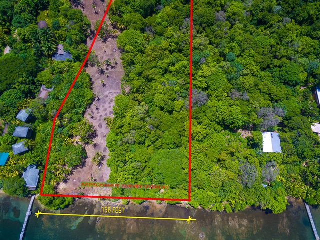 This property offers 156 feet of beach frontage