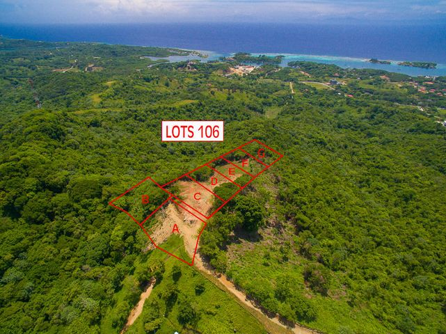 Aerial view of Coral View lot 106F- please not this listing is only for lot 106F