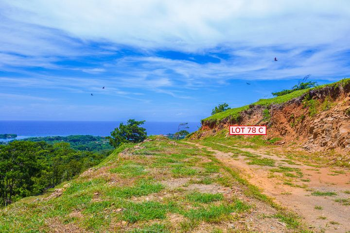 Ocean view lot 78C is a hillside lot that is ready to build