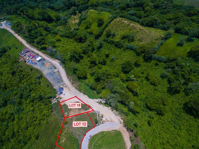 Aerial view of Coral View lot 12 - This listing is only for lot 12