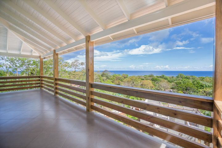 Stunning ocean views from the covered patio on the second floor