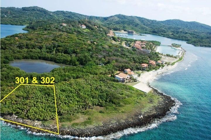 Waterfront 0.95 acre, Estate Site, Parrot Tree, Roatan,