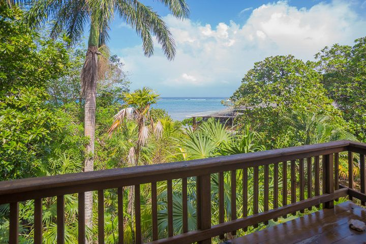 Taking in the stunning ocean views from the privacy of your own porch