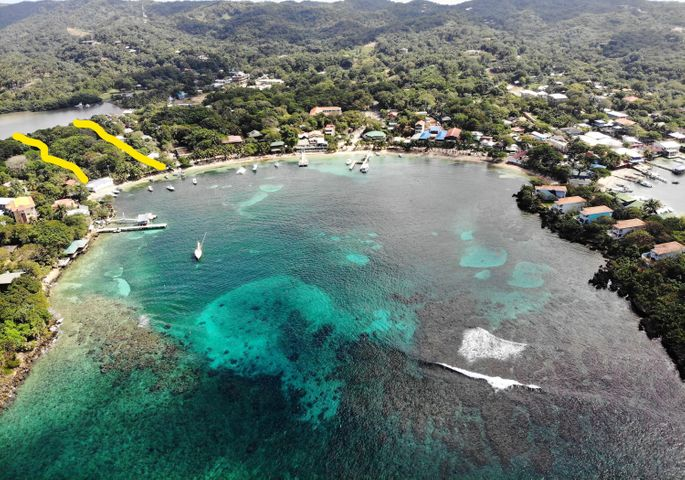 in Half Moon Bay, West End, Unique Waterfront Property, Roatan,