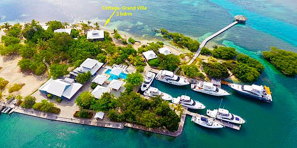 Villa–The Cottage, Grand Villa, Barefoot Cay -2Bed/2Bath Beach, Roatan,