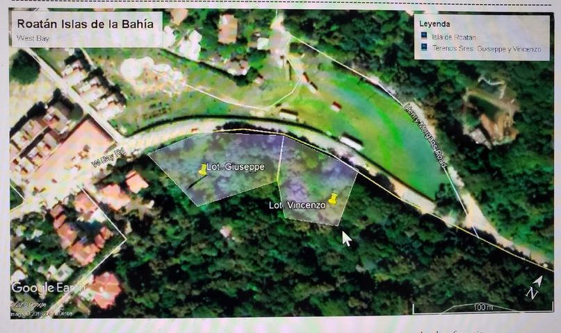 West Bay Road, Roatan, HN, West Bay Road Front 0.66 acre, Roatan,
