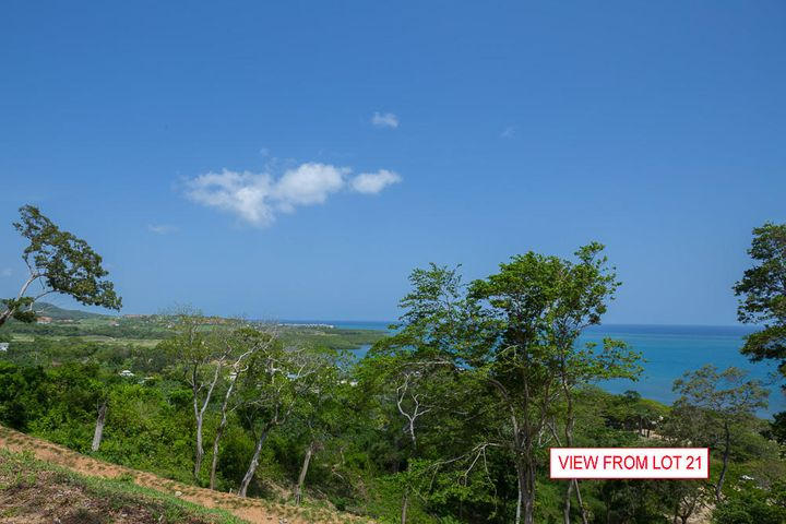 Ocean views from hillside lot 21