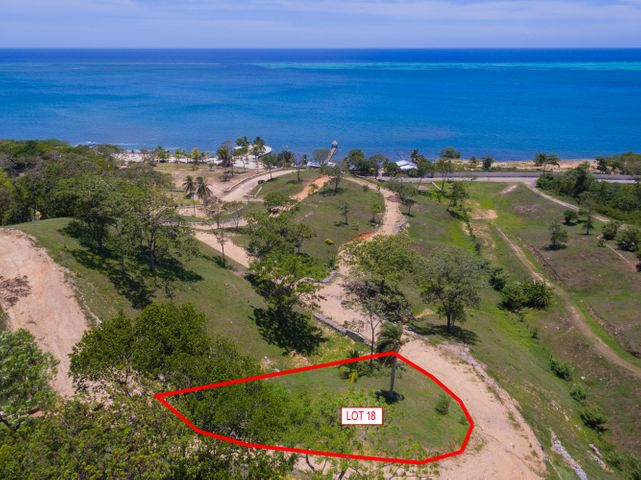 Hillside lot 18 has a gentle slope and is ready to build