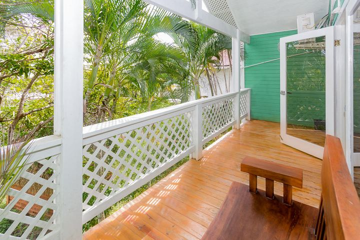 The covered deck just off the main living space
