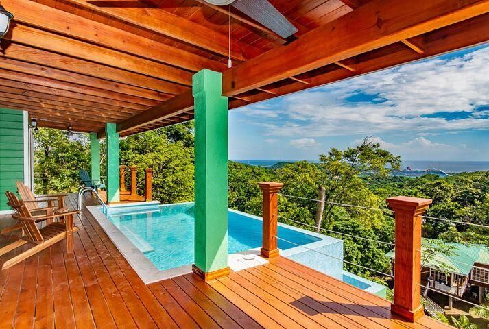 2 Bed 2 Bath Ocean View Home, Roatan,