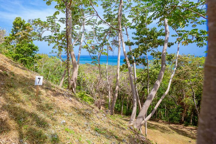 Clear ocean views from lot 7