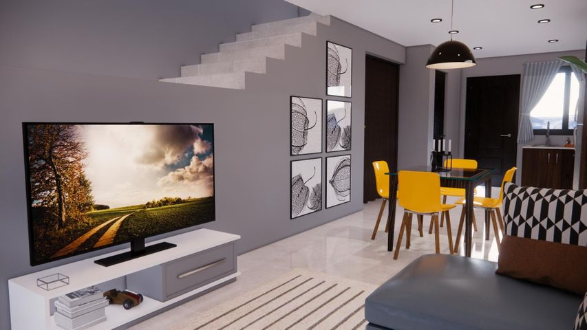 The townhouse - Enjoy this open concept living area