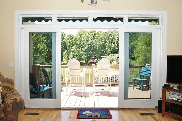 the deck off of the great room offers wonderful lake views.