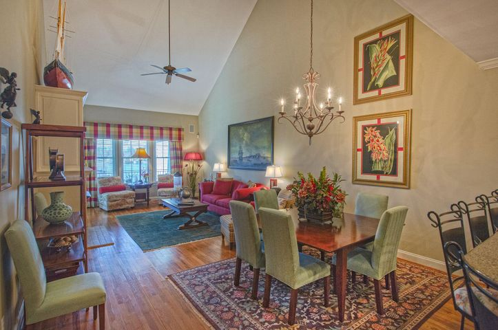 Vaulted ceilings and open space makes this area an enjoyable spot to entertain.