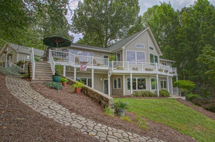 Lakeside offering oversized docks over looking Smith Mountain Lake