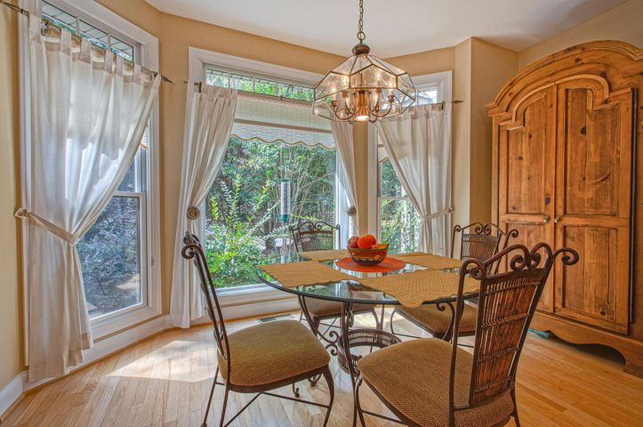 Breakfast nook is large enough for four people to be seated