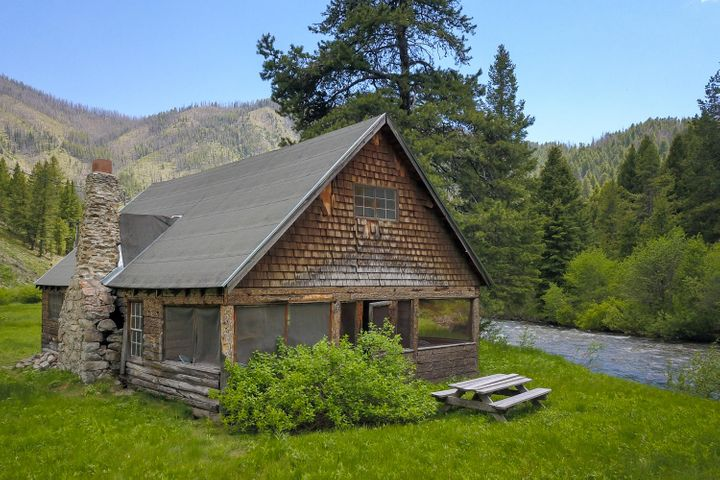 1.3 Acres along the Warm Springs River. Cabin built in 1920.