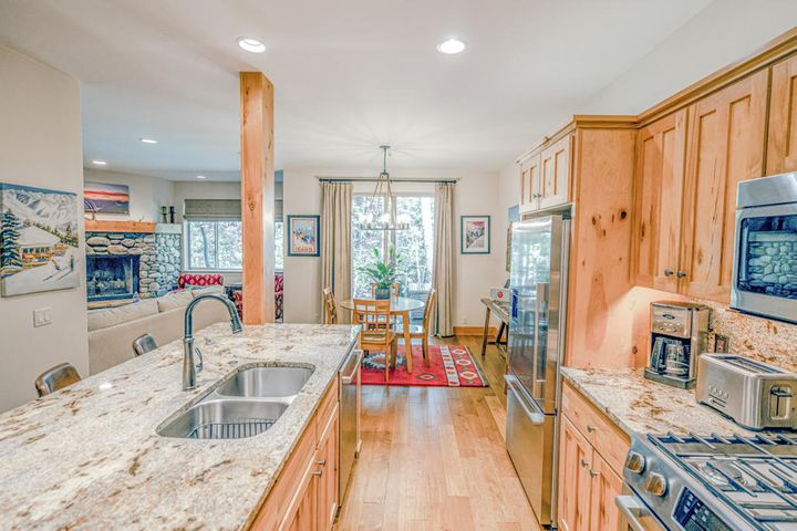 Exquisite interior with Trail Creek meandering out the door!