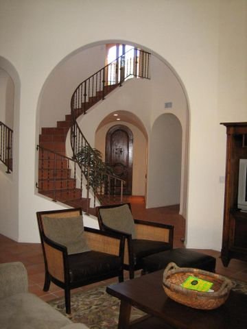 Sculpted Staircase and Entranceway