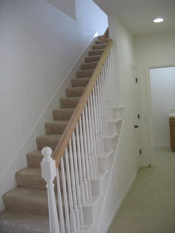 Spindle stair case