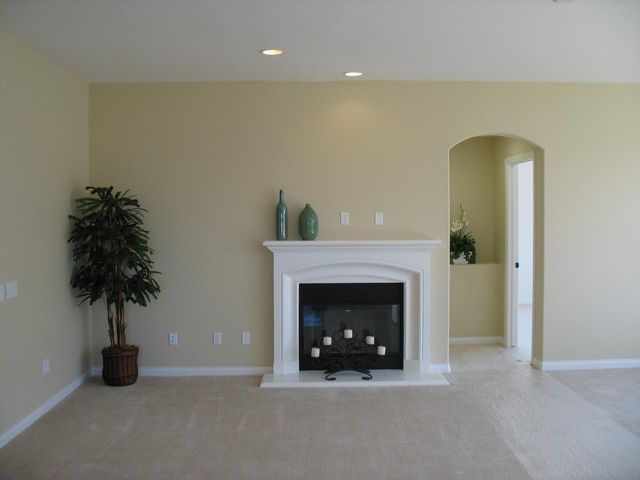 Great Room with flat screen pre-wire