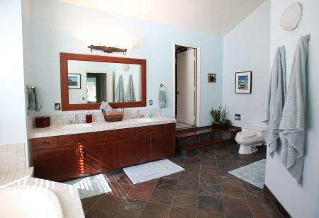 Master Bathroom & door to third bedroom