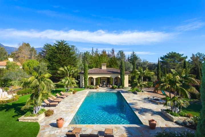 pool & pool house view