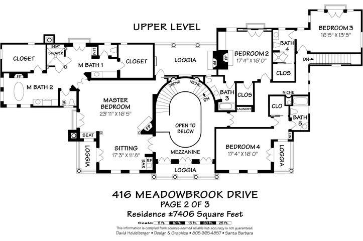 Upstairs Main Residence Floor Plan