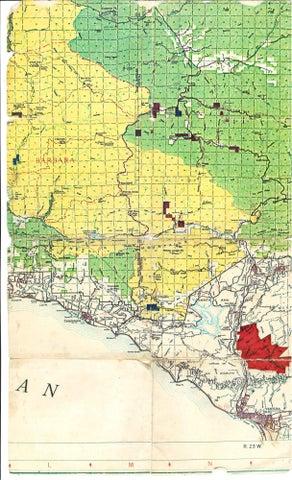 Rancho Canada Larga Map Color Road