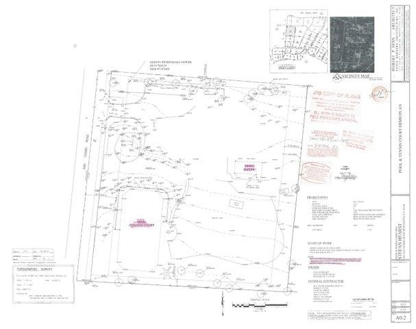 850 San Ysidro Rd Site Plans