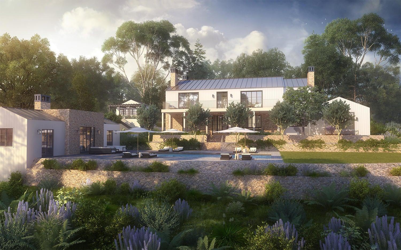 pool house rendering