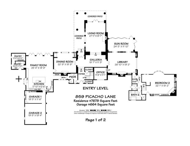 Entry Level Floor Plan