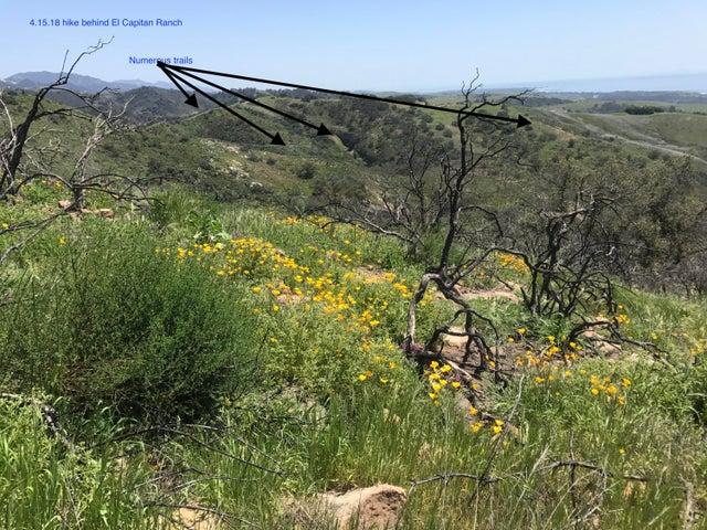 Example of trails behind El Capitan Ranc
