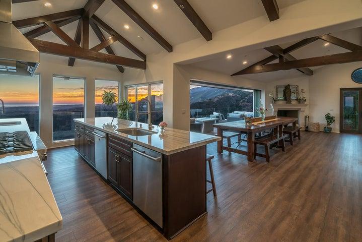 Main Residence - Kitchen Sunset