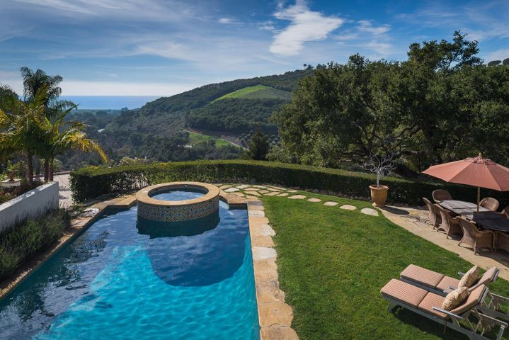 Sparkling Pool with Ocean Views